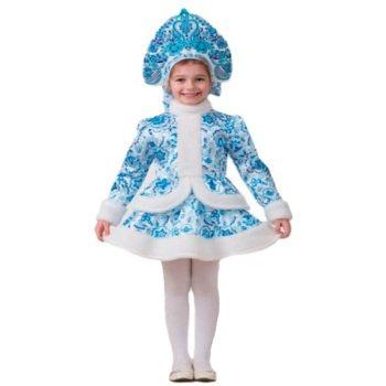 костюм снегурочки для девочки напрокат