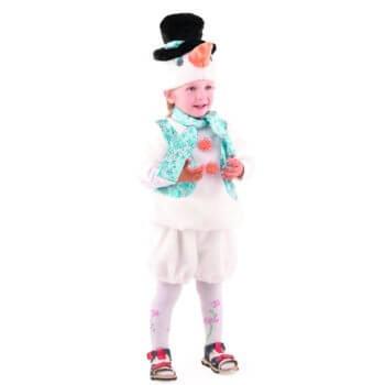 Новогодний костюм для мальчика Снеговичок