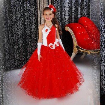 Нарядное длинное платье для девочки напрокат