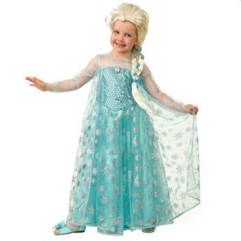 Прокат детский карнавальный костюм Эльза